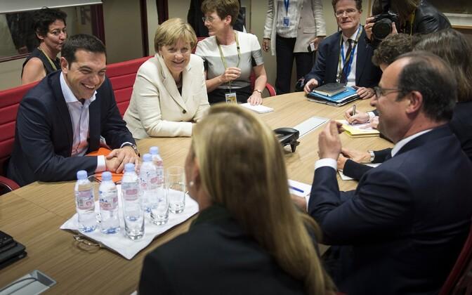 Läbirääkimised Brüsselis Kreeka võla osas.