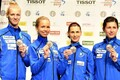 Estonian women's epee fencing team also finished second at the European Fencing Championships in Switzerland.