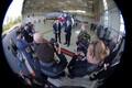 The British defense secretary Michael Fallon paid a brief visit to Ämari Air Base in Estonia on Wednesday