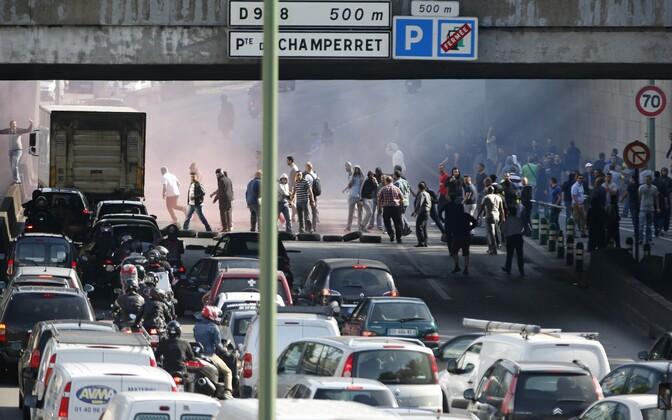 Taksojuhtide meeleavaldus sel suvel Pariisis
