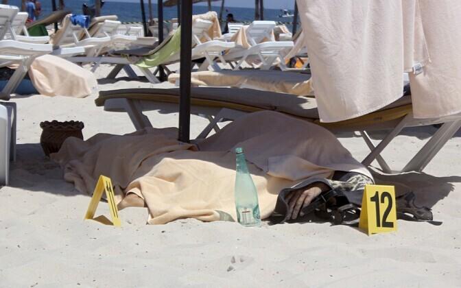 Tapetud turistid Sousse rannas