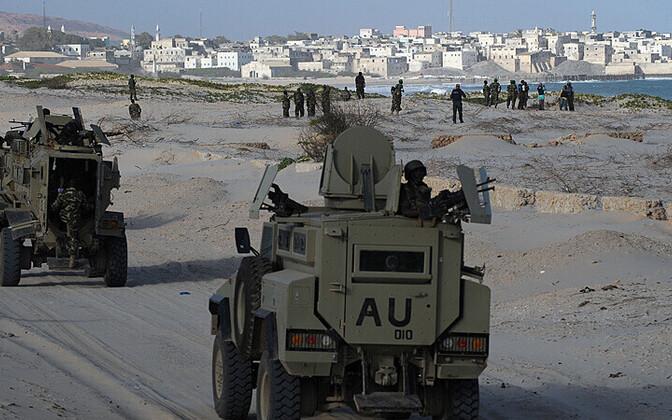 Burundi sõdurid Somaalias; pilt on illustratiivse tähendusega