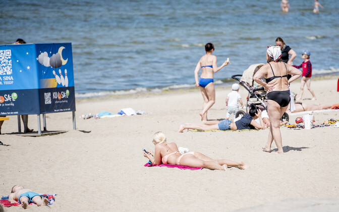 Pirita beach in summer. Image is illustrative