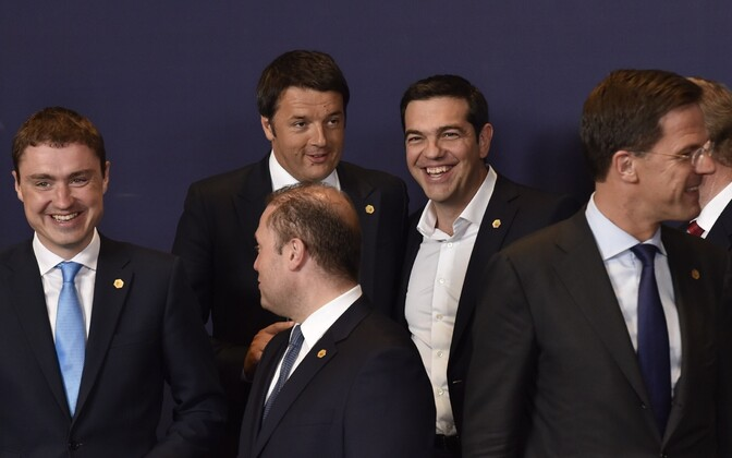 Gone are the bright smiles flashed in this picture from April by Italian Prime minister Matteo Renzi Greek Prime Minister Alexis Tsipras. While Renzi reacted with anger to eastern bloc's refusal to accept the proposed number of refugees currently in Italy