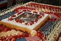 The US Embassy in Tallinn threw a party to celebrate the Independence Day. The impressive cake made for the occasion required eight soldiers to transport.