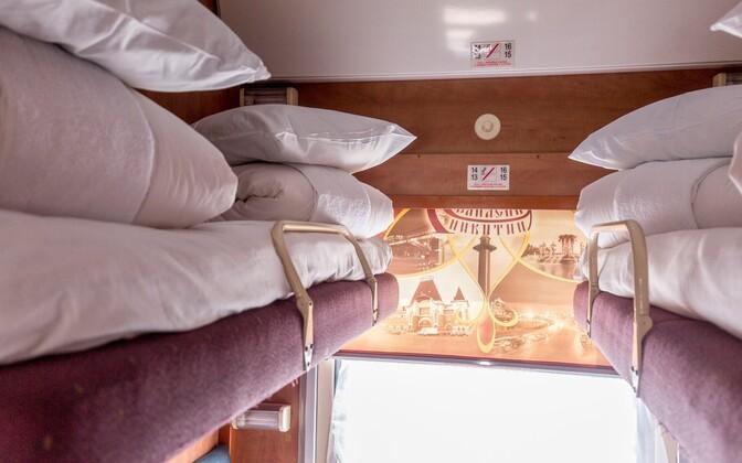 В поезде Таллинн-Москва.