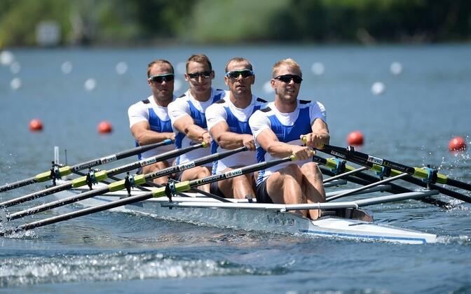Eesti neljapaat koosseisus (vasakult) Andrei Jämsä, Allar Raja, Tõnu Endrekson ja Kaspar Taimsoo.