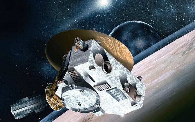 Sond New Horizons kunstniku nägemuses.