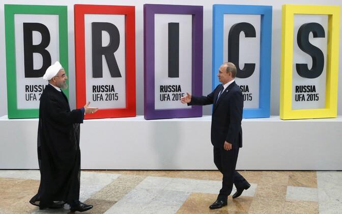 Iraani president Hassan Rouhani ja Venemaa president Vladimir Putin BRICS riikide kohtumisel