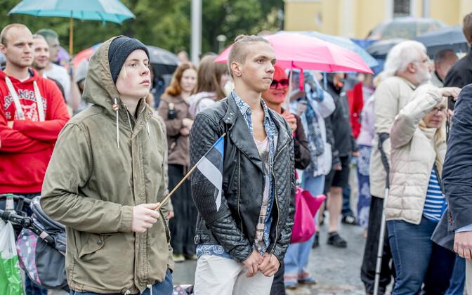 Massiimmigratsiooni vastaste meeleavaldus Vabaduse väljakul