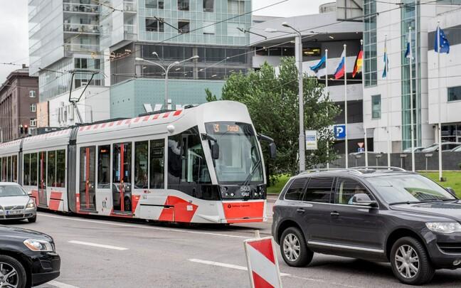 Новый трамвай в Таллинне.