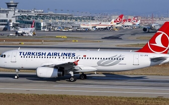 A bomb threat letter was found on a Turkish Airlines flight from Tallinn to Istanbul.