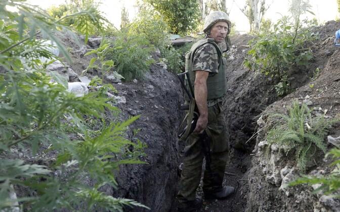 Ukraina sõdur Donetski oblastis.