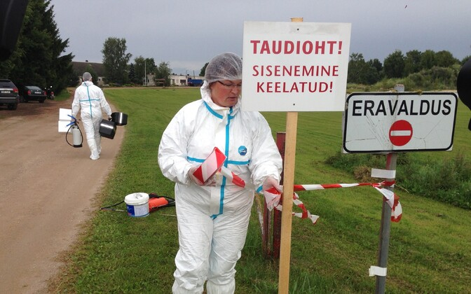 A farm on which ASF was detected being placed under quarantine. Photo is illustrative.