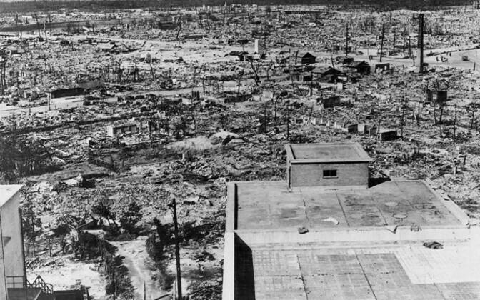 Hiroshima pärast tuumarünnakut.