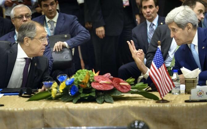 Venemaa välisminister Sergei Lavrov ja USA riigisekretär John Kerry Kuala Lumpuris.