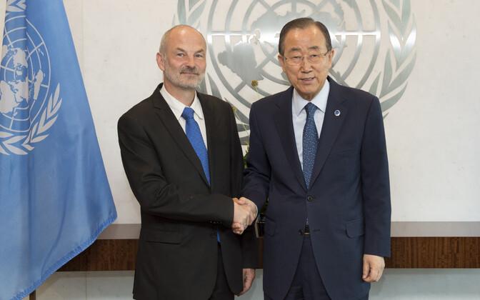 Sven Jürgenson ja Ban Ki-moon.