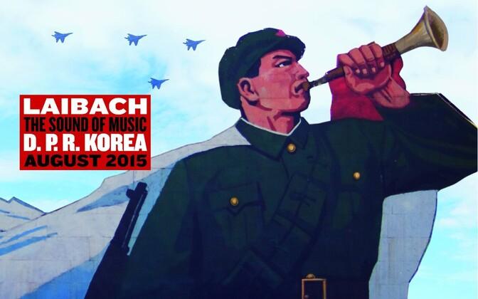 Laibachi Põhja-Korea kontserdi poster