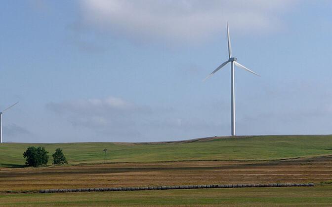 Elektrit tootvad tuulikud.