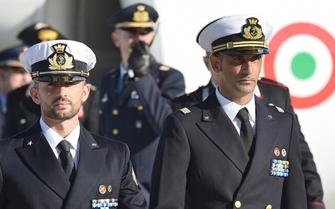 Salvatore Girone (vasakul) ja Massimiliano Latorre 22. detsembril 2012 Itaalias