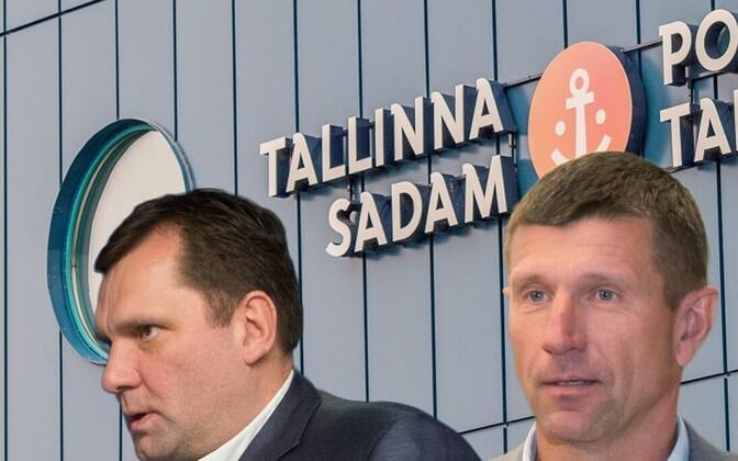 Allan Kiil ja Ain Kaljurand. Fotomontaaž.