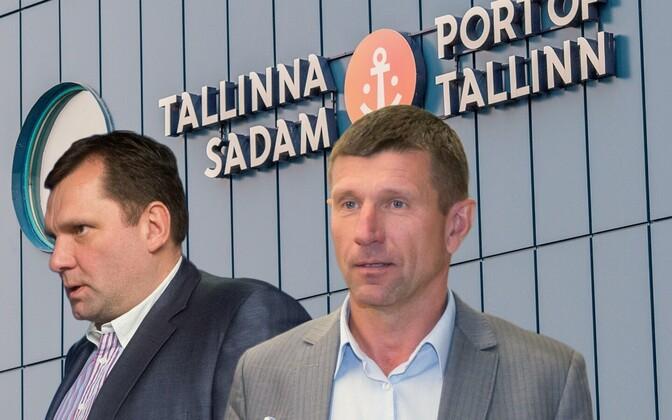 Allan Kiili ja Ain Kaljurand. Fotomontaaž.