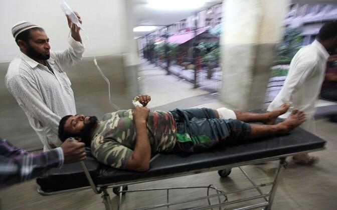 Haavata saanud külaelanik Liyakat Ali 28. augustil Jammu haiglas