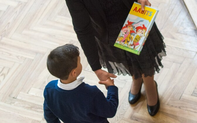 1 сентября в школах Таллинна.
