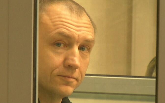 Eston Kohver Pihkva kohtusaalis.