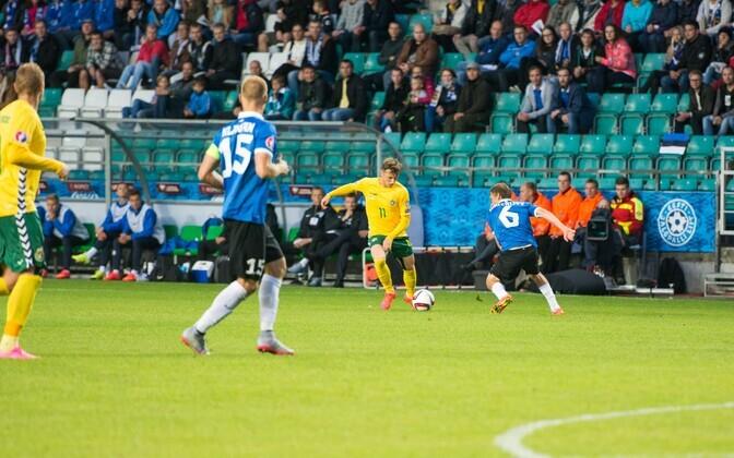 Отборочный матч Эстония - Литва.