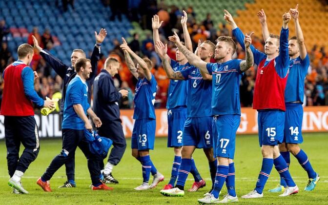 Islandi jalgpallikoondislased.