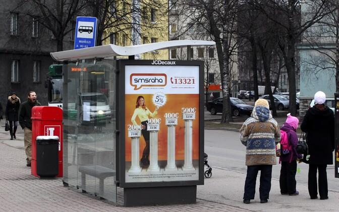 Kiirlaenu reklaam.