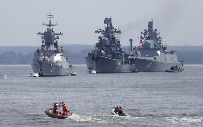 Venemaa sõjalaevad Kaliningradi oblastis Baltiiskis. Illustreeriv foto.