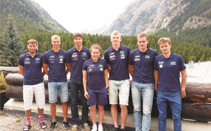 Team Haanja keskmäestikulaagris Šveitsis