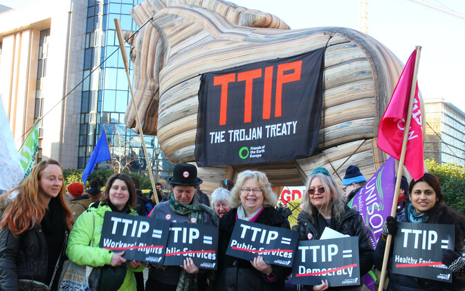 Lisaks Eestile on kodanikud veel mitmetes riikides avaldanud meelt TTIP leppe vastu.