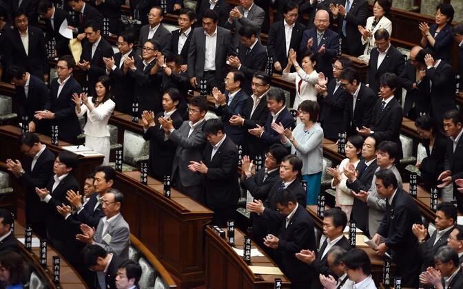 Jaapani parlamendi hääletus.