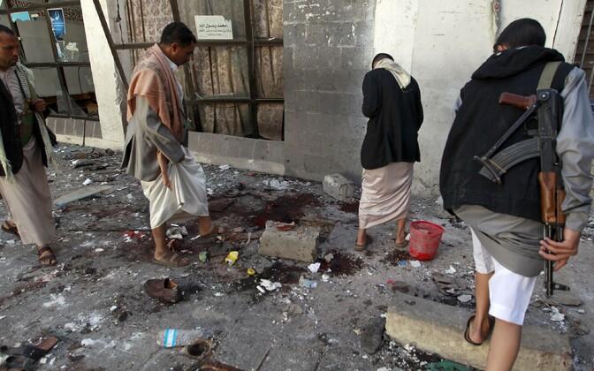Houthi mässulistest võitlejad sündmuskohal