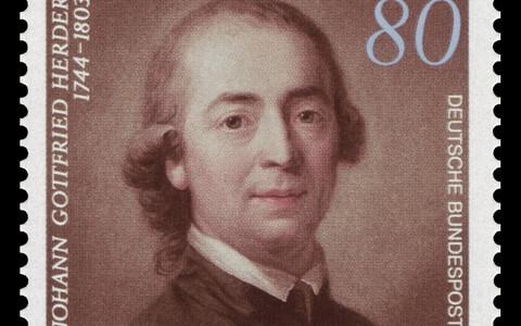 Johann Gottfried Herder Saksa postmargil.