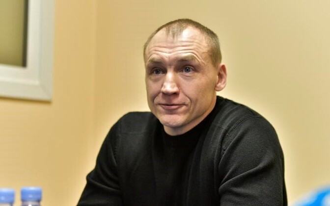 A free Eston Kohver in Tartu on September 26, 2015