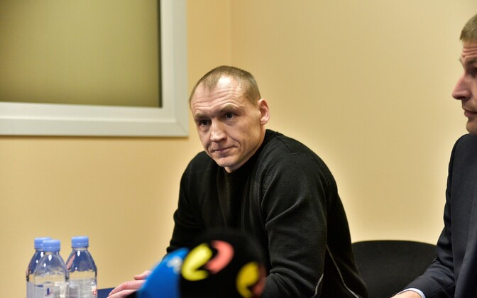 Eston Kohver at the press conference