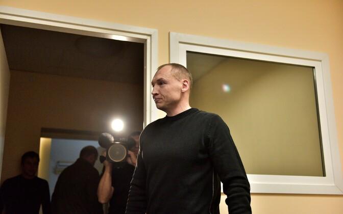 Эстон Кохвер, министр внутренних дел Ханно Певкур и генеральный директор КаПо на пресс-конференции в Тарту.