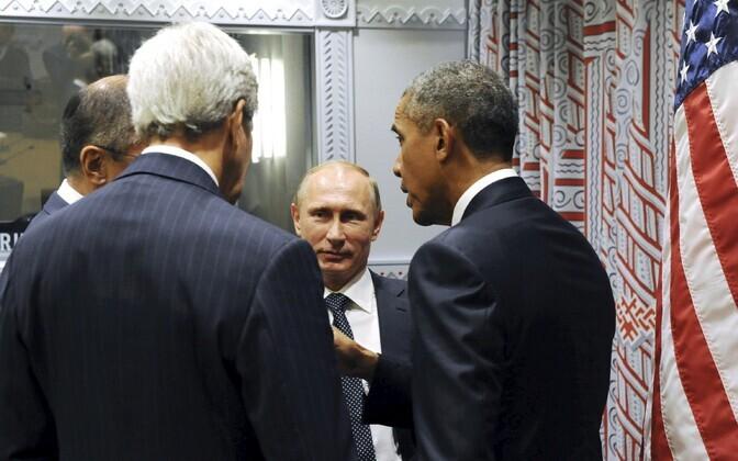 Välisministrid Sergei Lavrov, John Kerry ning presidendid Vladimir Putin ja Barack Obama kohtusid New Yorgis.