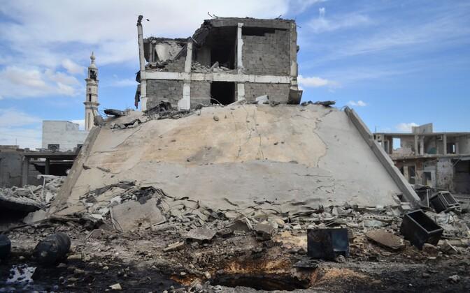 Venemaa tegi täna õhurünnakuid Homsi provintsile.