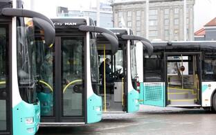 Tallinna linna liinibussid.