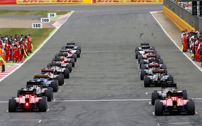 Vormel-1 sarja Suurbritannia GP start 2015. aastal