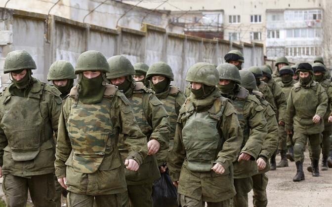 Eraldusmärkideta Vene sõjaväelased 2014. aastal Krimmis