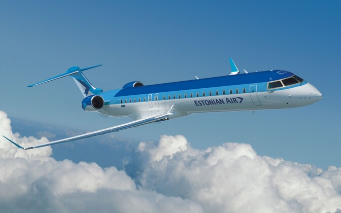 One of Estonian Air's recently acquired Bombardier CRJ900s