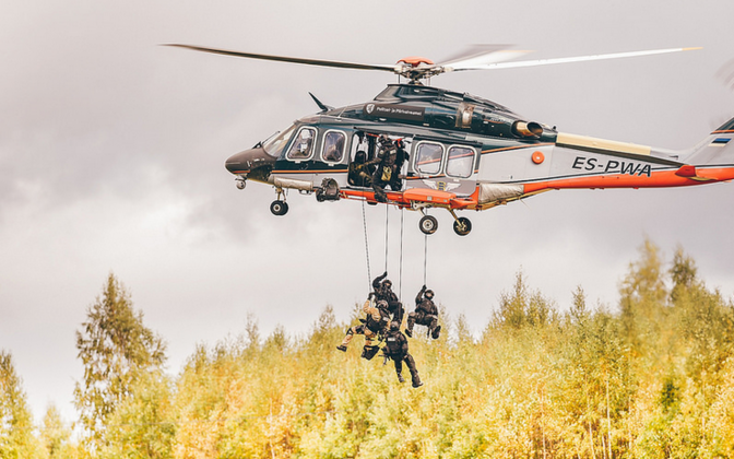 Participants in the 2015 international anti-terrorism exercise ATHOS in Estonia.