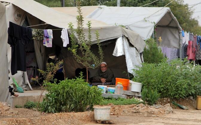 Сирийские беженцы на турецкой границе.