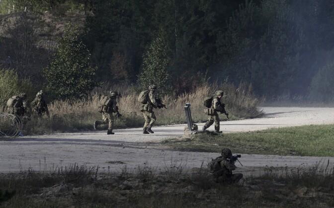 Briti sõdurid 2015. aastal Lätis õppusel.